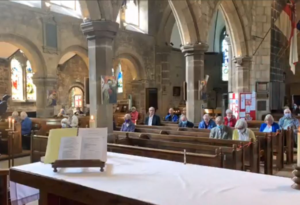 Services resumed at St Oswald's Church
